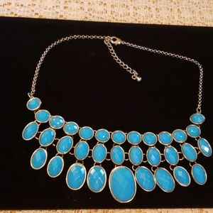 Jewelry - Turquoise and silver bib